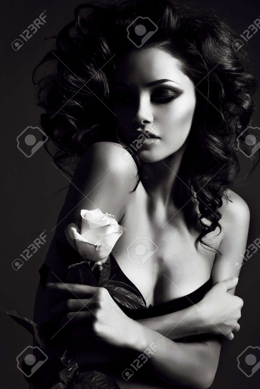 Sexy woman black and white