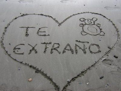 I miss and love you in spanish
