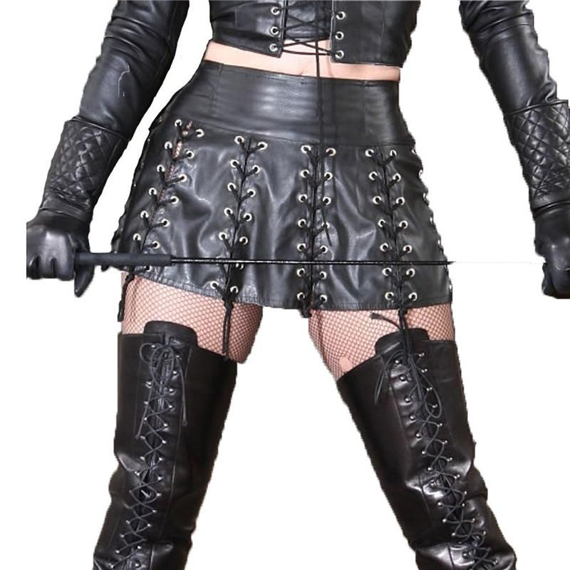 Sexy long leather skirt fetish
