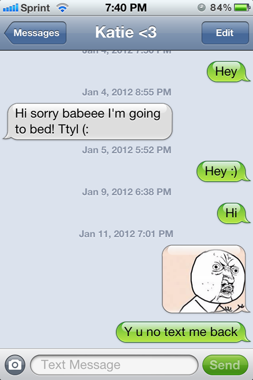 What to text a girl who stopped responding